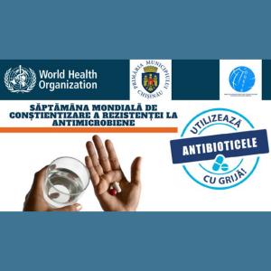 """În perioada 18-24 noiembrie se desfășoară Săptămâna mondială de conștientizare a rezistenței la antimicrobiene, cu genericul """"Antimicrobienele: administrați cu grijă"""""""