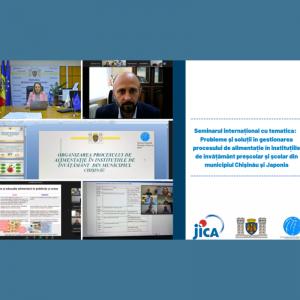 Seminarul internațional:  Probleme și soluții în gestionarea procesului de alimentație în instituțiile de învățământ general din municipiul Chișinău și Japonia