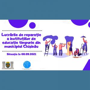 Lucrările de reparație a instituțiilor de educație timpurie din municipiul Chișinău